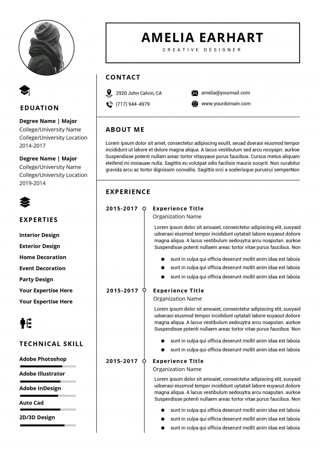 001 Impressive Professional Resume Template Word Picture  Microsoft Download Free 2010 2019Large