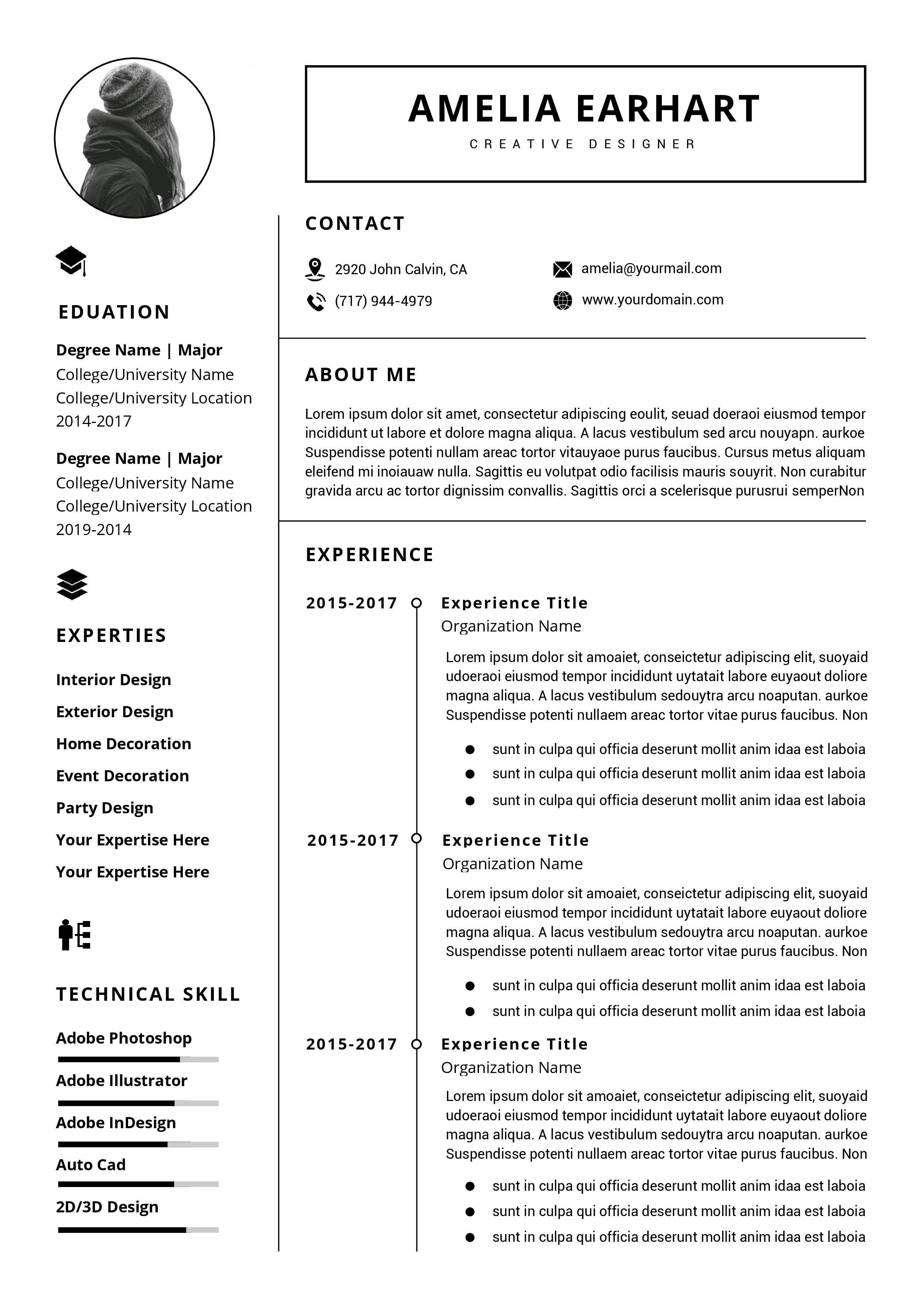 001 Impressive Professional Resume Template Word Picture  Microsoft Download Free 2010 2019Full