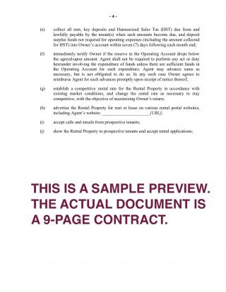 001 Impressive Rental Property Management Contract Sample Image  Vacation Template320
