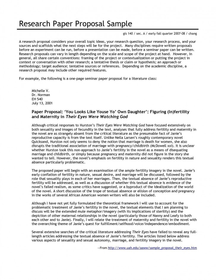 001 Impressive Sample Research Paper Proposal Template High Resolution  Writing A728