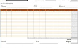 001 Impressive Simple Expense Report Template Sample  Example Free Form