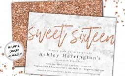 001 Impressive Sweet 16 Invite Template Photo  Templates Surprise Party Invitation Birthday Free 16th