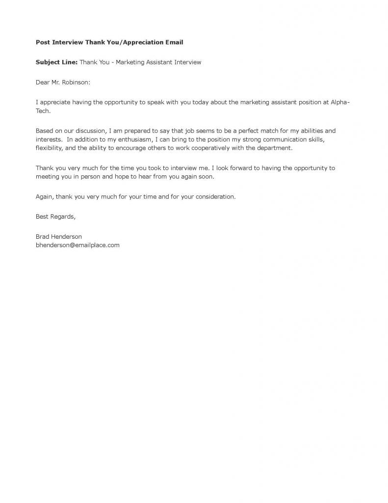 001 Impressive Thank You Note Template Interview Concept  Letter Sample After Example Job ResidencyFull