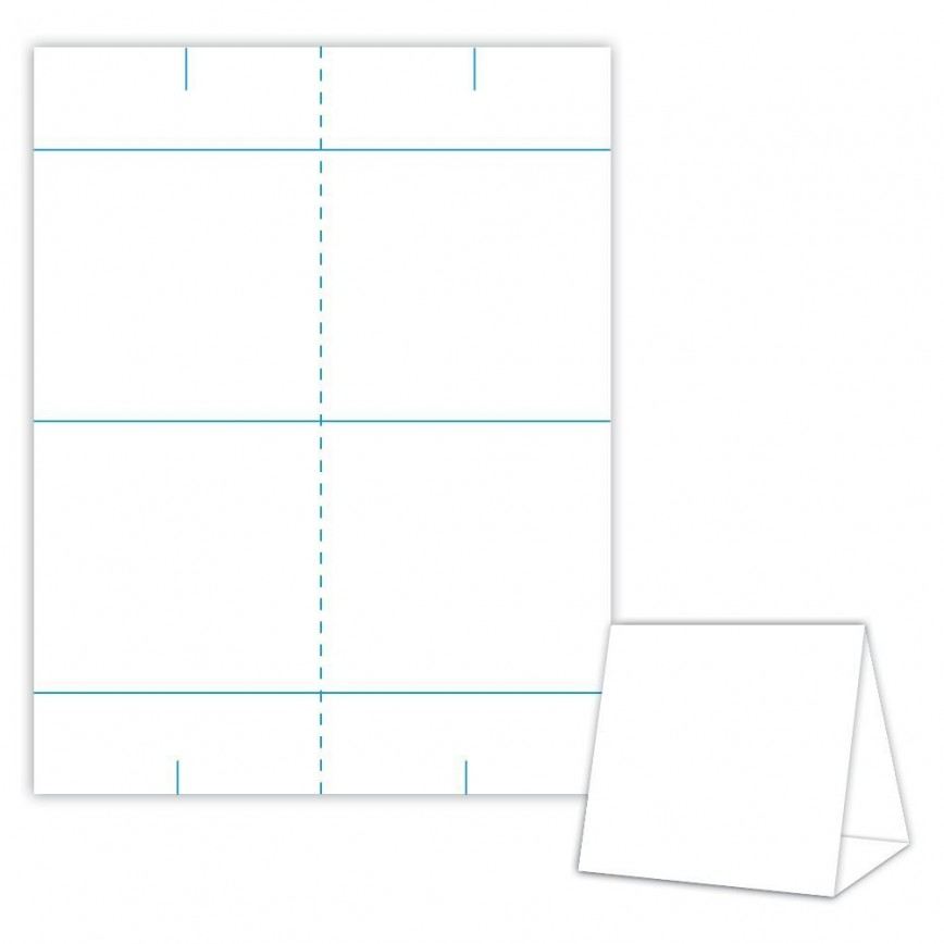 001 Impressive Tri Fold Table Tent Template Idea  Card Word Free868