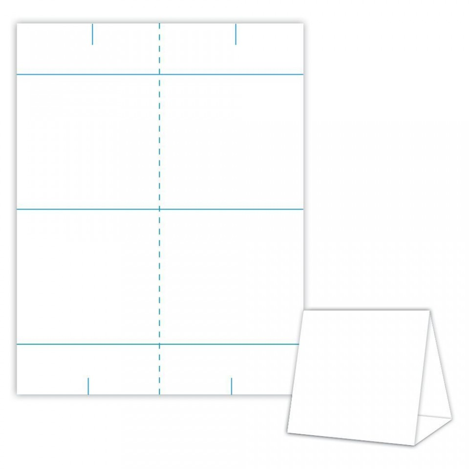 001 Impressive Tri Fold Table Tent Template Idea  Card Word Free960