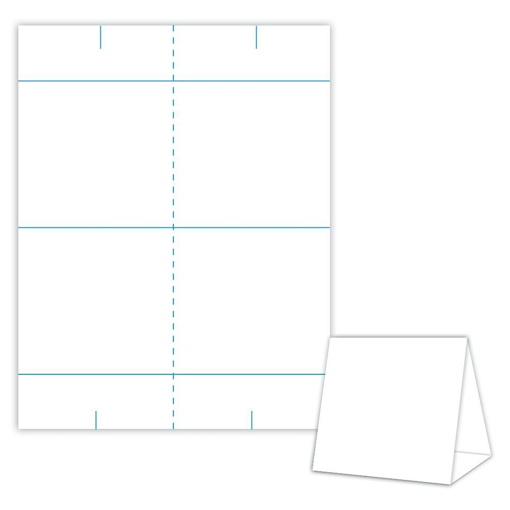001 Impressive Tri Fold Table Tent Template Idea  Card Word FreeFull
