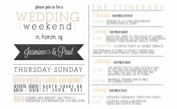 001 Impressive Wedding Weekend Itinerary Template Concept  Day Word Reception Timeline Excel