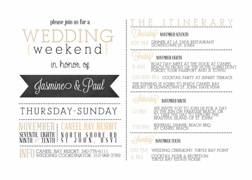 001 Impressive Wedding Weekend Itinerary Template Concept  Indian Day Free Download Excel