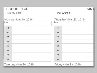 001 Impressive Weekly Lesson Plan Template Photo  Preschool Google Doc Editable320