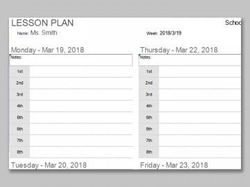001 Impressive Weekly Lesson Plan Template Photo  Preschool Google Doc Editable360