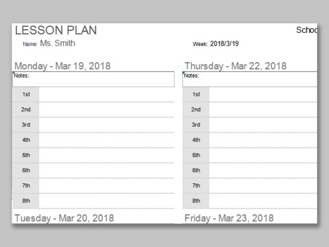 001 Impressive Weekly Lesson Plan Template Photo  Preschool Google Doc Editable480