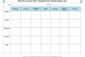 001 Impressive Weekly Lesson Plan Template Design  Blank Free High School Danielson Google Doc