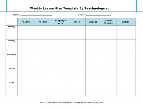 001 Impressive Weekly Lesson Plan Template Design  Blank Free High School Danielson Google Doc480
