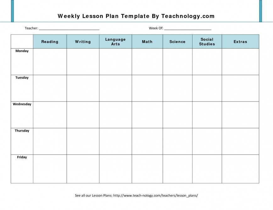 001 Impressive Weekly Lesson Plan Template Design  Blank Free High School Danielson Google Doc868