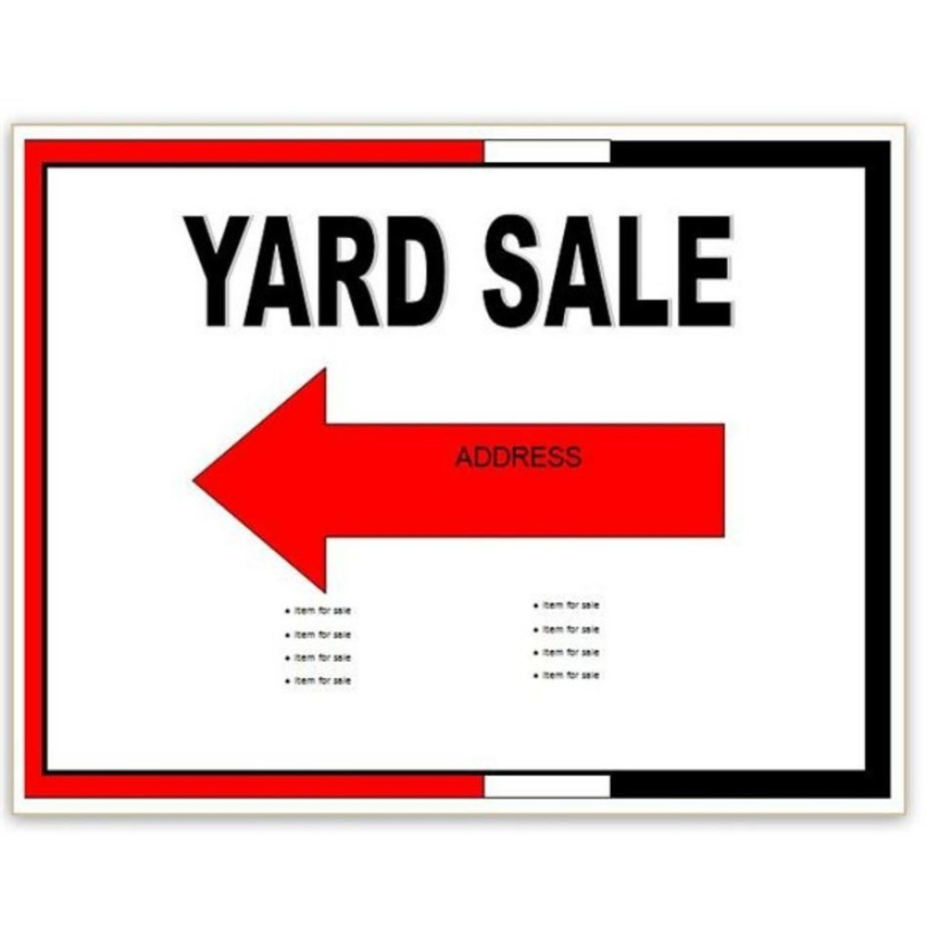 001 Impressive Yard Sale Flyer Template Free Highest Clarity  Community GarageLarge