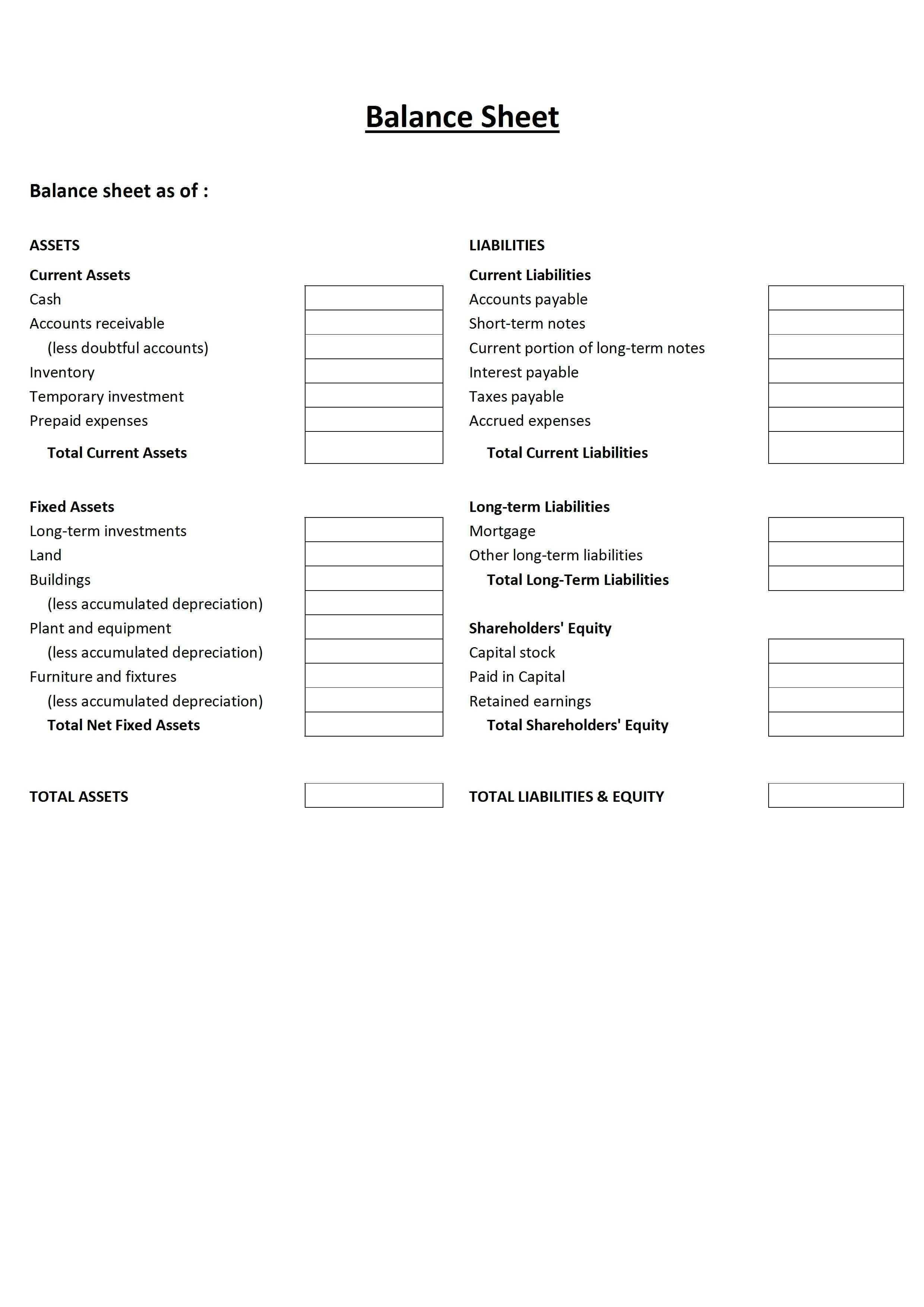 001 Incredible Blank Balance Sheet Template Sample  Example Form FreeFull