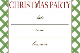 001 Incredible Christma Party Invitation Template Sample  Holiday Download Free Psd