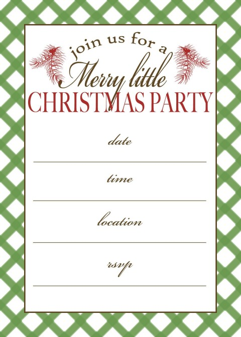 001 Incredible Christma Party Invitation Template Sample  Holiday Download Free Psd480