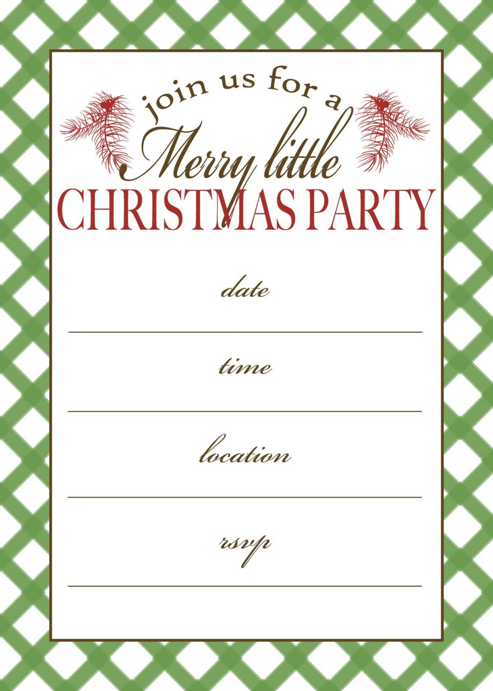 001 Incredible Christma Party Invitation Template Sample  Funny Free Download Word Card960