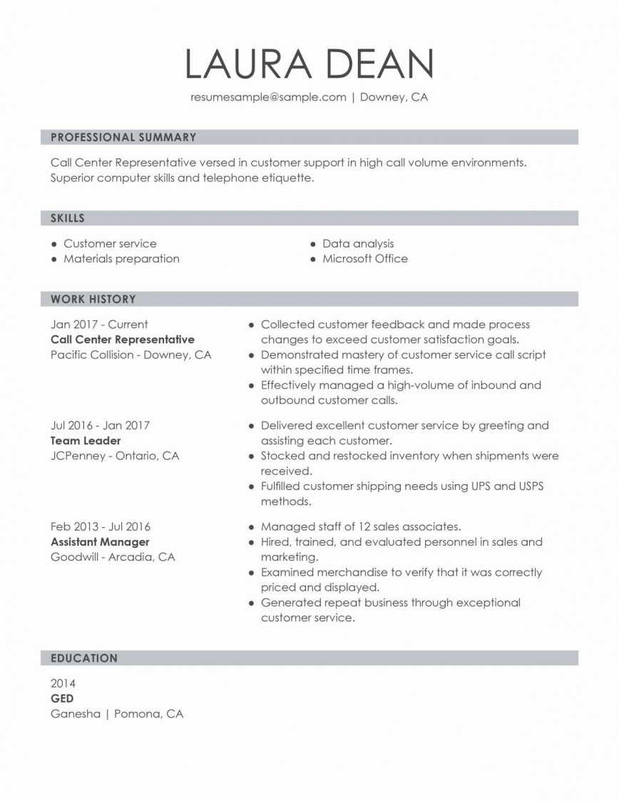 001 Incredible Customer Service Resume Template Sample  Cv Download Manager Free