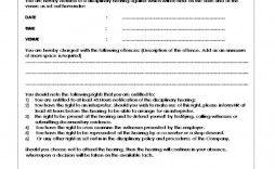 001 Incredible Disciplinary Write Up Template Highest Quality  Templates Employer Form