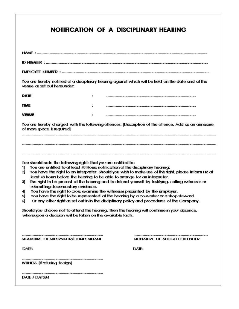 001 Incredible Disciplinary Write Up Template Highest Quality  Templates Employer FormFull