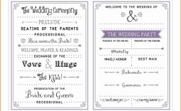 001 Incredible Free Download Template For Wedding Program Photo  Programs