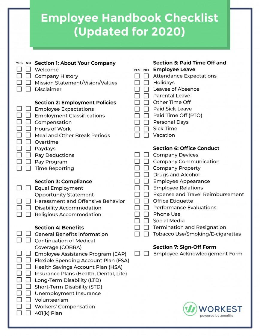 Free Employment Handbook Template Addictionary