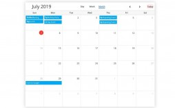 001 Incredible Free Event Calendar Template Picture  Html For Website