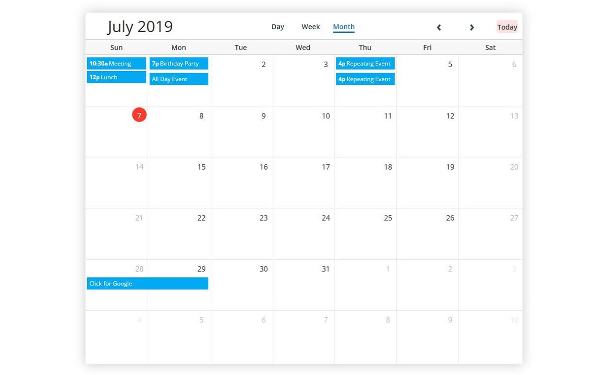 001 Incredible Free Event Calendar Template Picture  Html For WebsiteFull