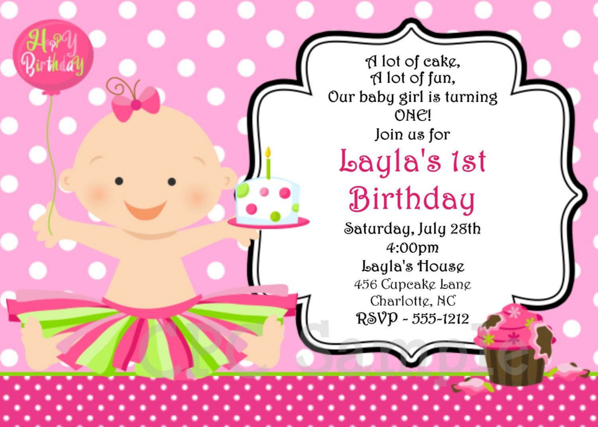 001 Incredible Free Online Birthday Invitation Maker Printable High Def  1st Card1920