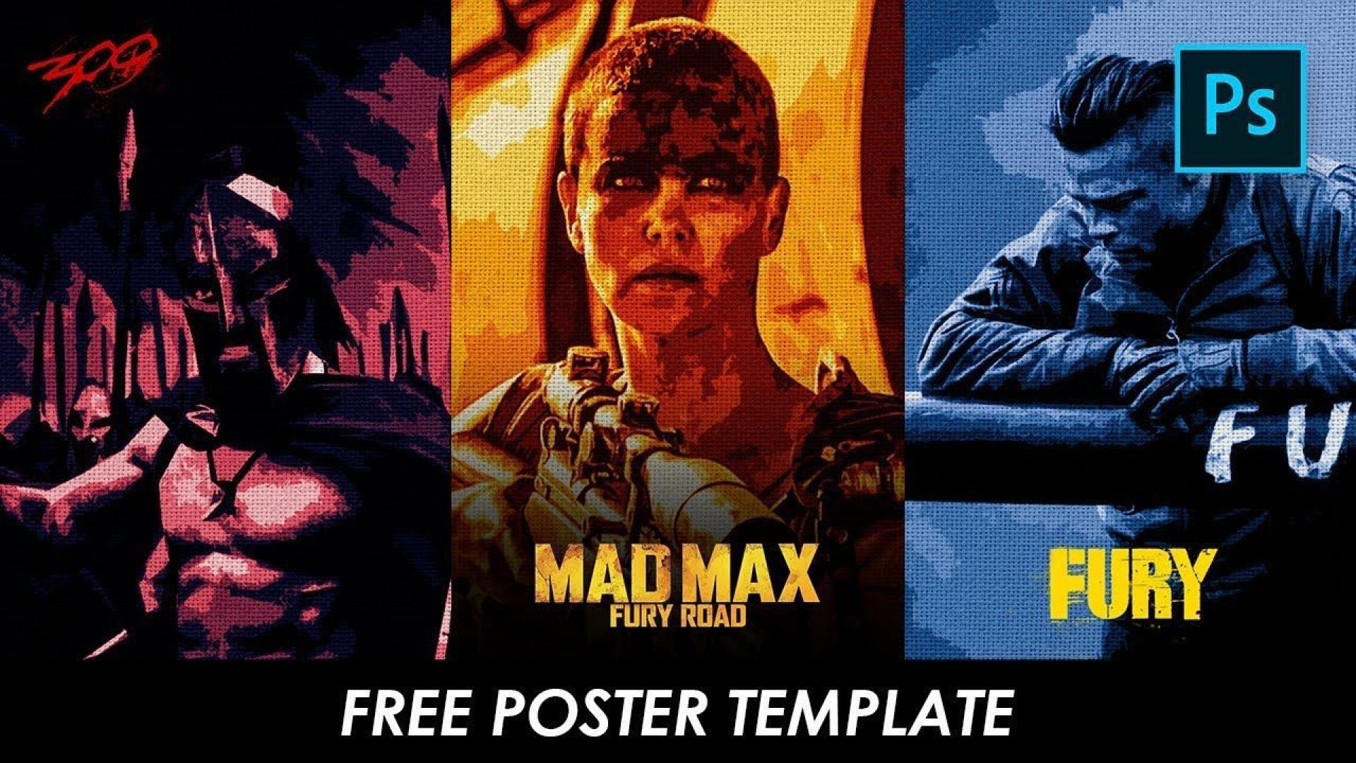 001 Incredible Free Photoshop Movie Poster Template High Resolution  Templates1920