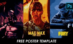 001 Incredible Free Photoshop Movie Poster Template High Resolution  Templates