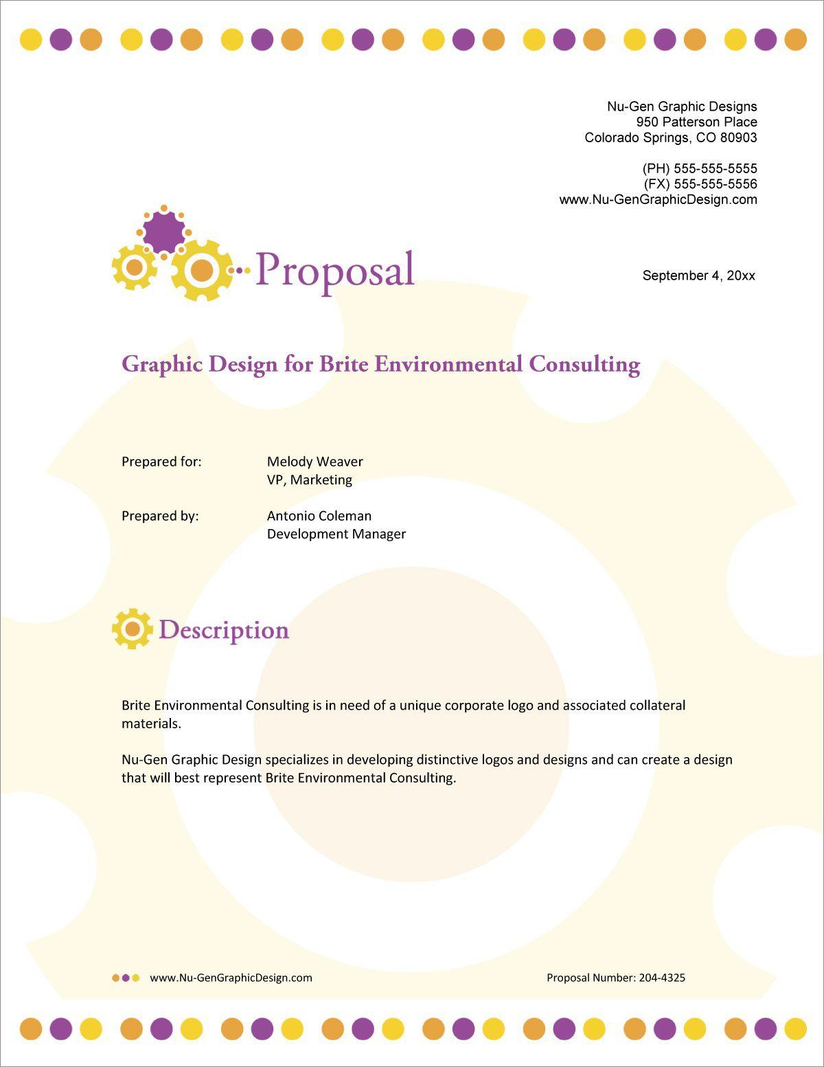 001 Incredible Graphic Design Proposal Sample Image  Pdf Free Template IndesignFull