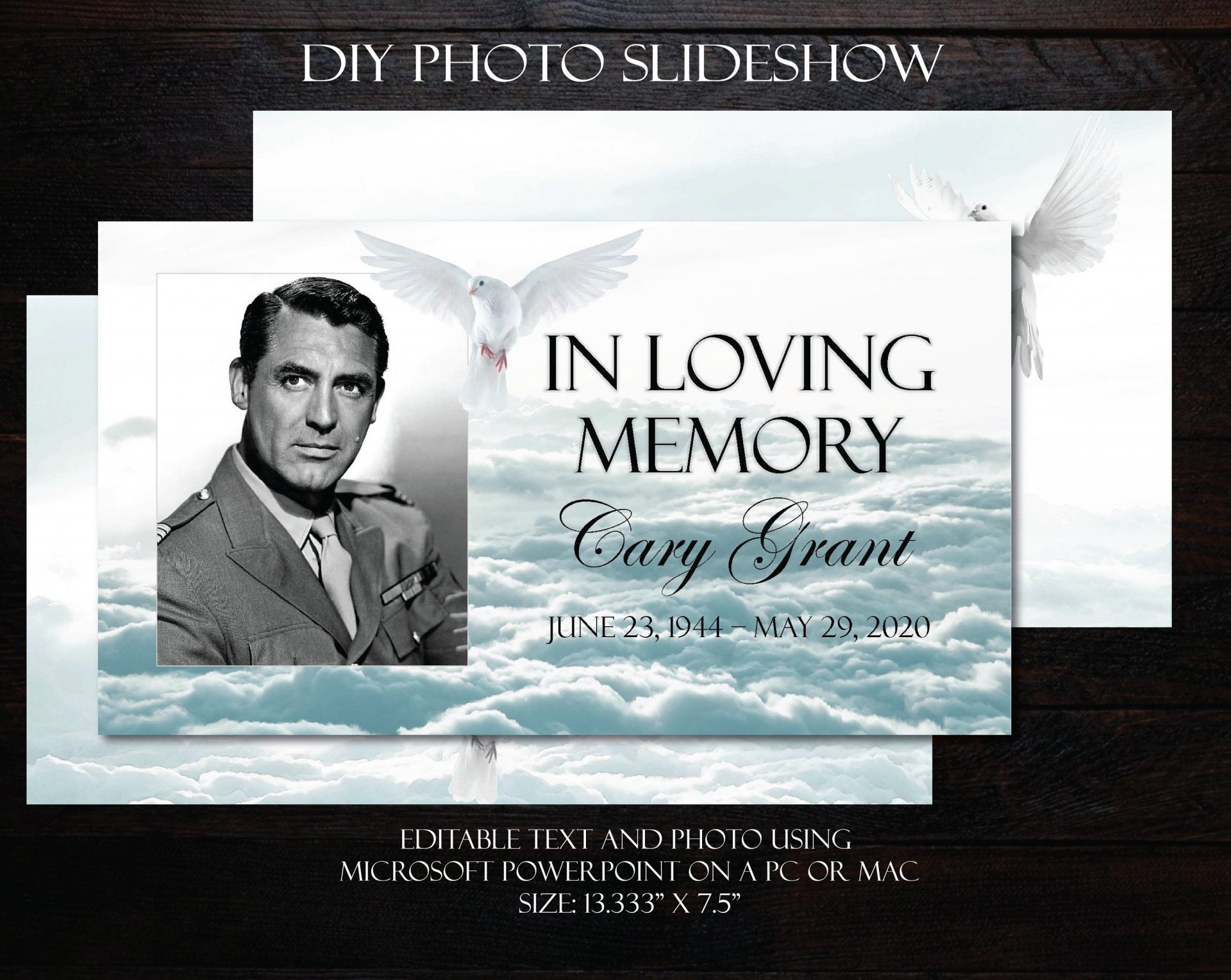 001 Incredible In Loving Memory Powerpoint Template Free Download High Def 1920
