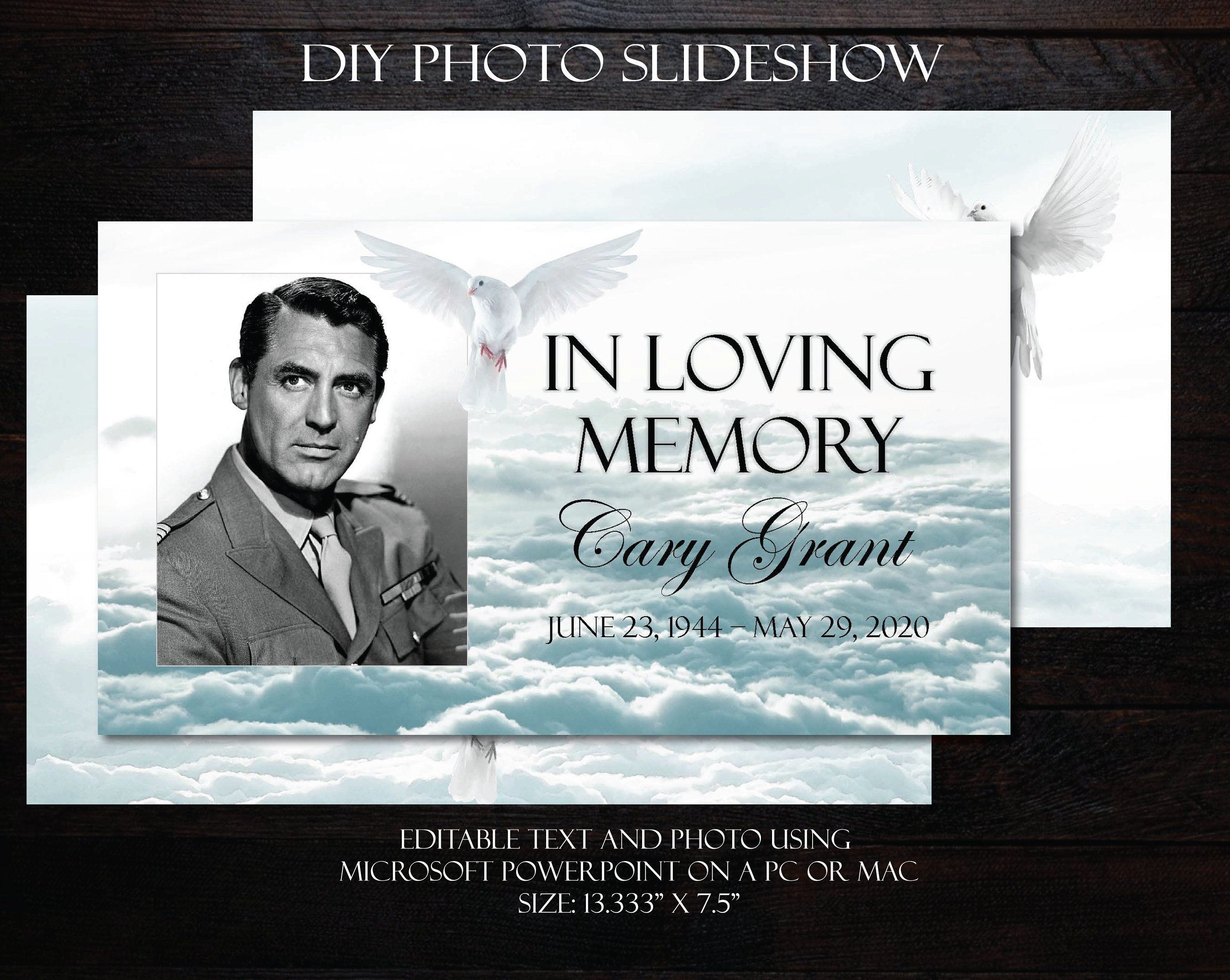 001 Incredible In Loving Memory Powerpoint Template Free Download High Def Full