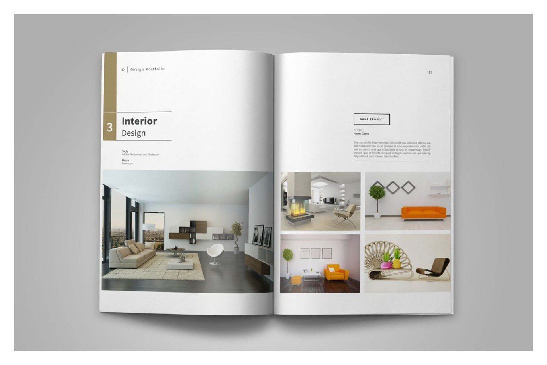 001 Incredible Interior Design Portfolio Template Concept  Ppt Free Download Layout1920