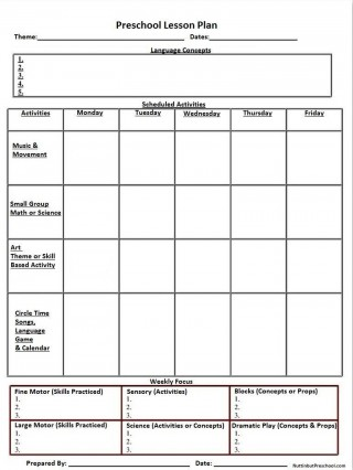 001 Incredible Kindergarten Lesson Plan Template Concept  Word Example Ontario320