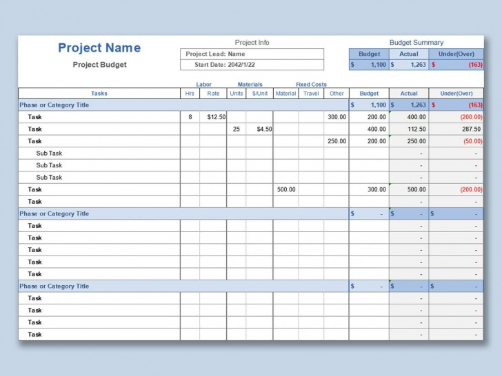 001 Incredible Line Item Budget Template Excel Idea 728
