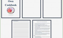 001 Incredible Make Your Own Cookbook Template Free Concept  Download
