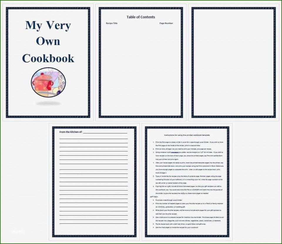 001 Incredible Make Your Own Cookbook Template Free Concept  Download960