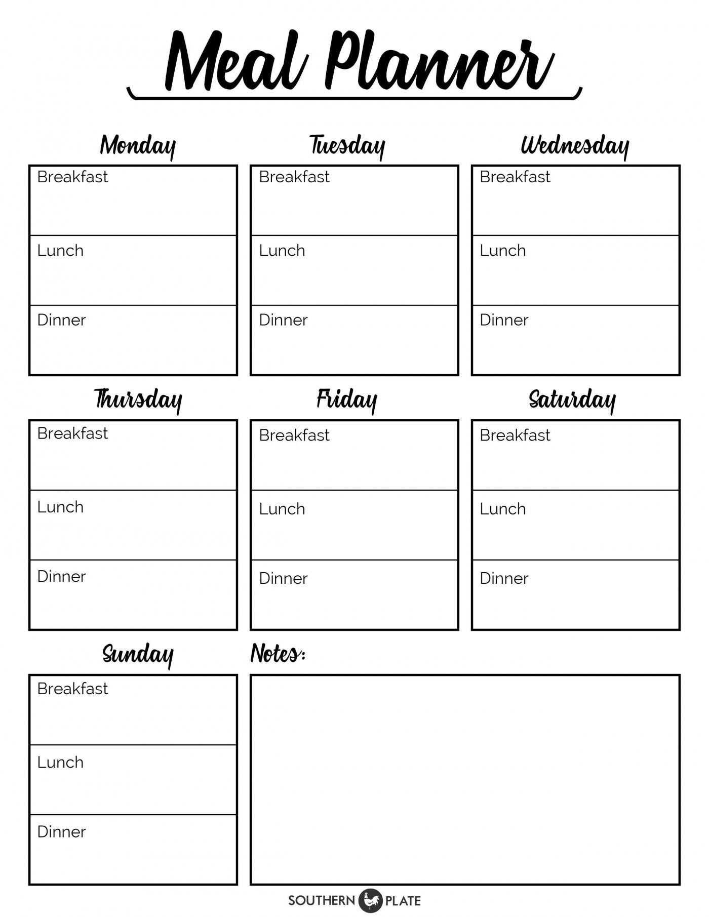 001 Incredible Meal Plan Printable Pdf Concept  Worksheet Downloadable Template Sheet1400