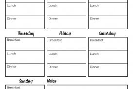 001 Incredible Meal Plan Printable Pdf Concept  Worksheet Downloadable Template Sheet