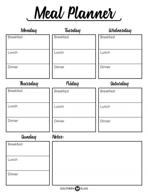 001 Incredible Meal Plan Printable Pdf Concept  Worksheet Downloadable Template Sheet480