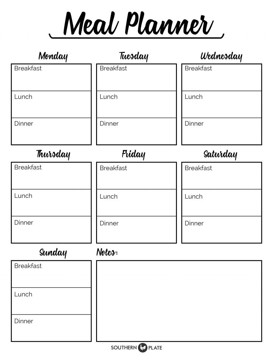 001 Incredible Meal Plan Printable Pdf Concept  Worksheet Downloadable Template Sheet960