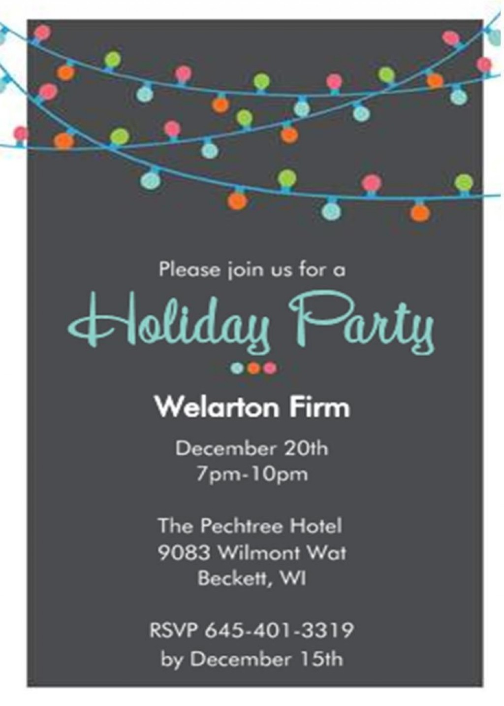 001 Incredible Office Christma Party Invitation Wording Sample Image  Holiday ExampleLarge