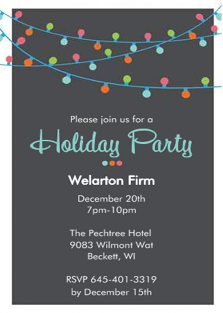 001 Incredible Office Christma Party Invitation Wording Sample Image  Holiday Example728