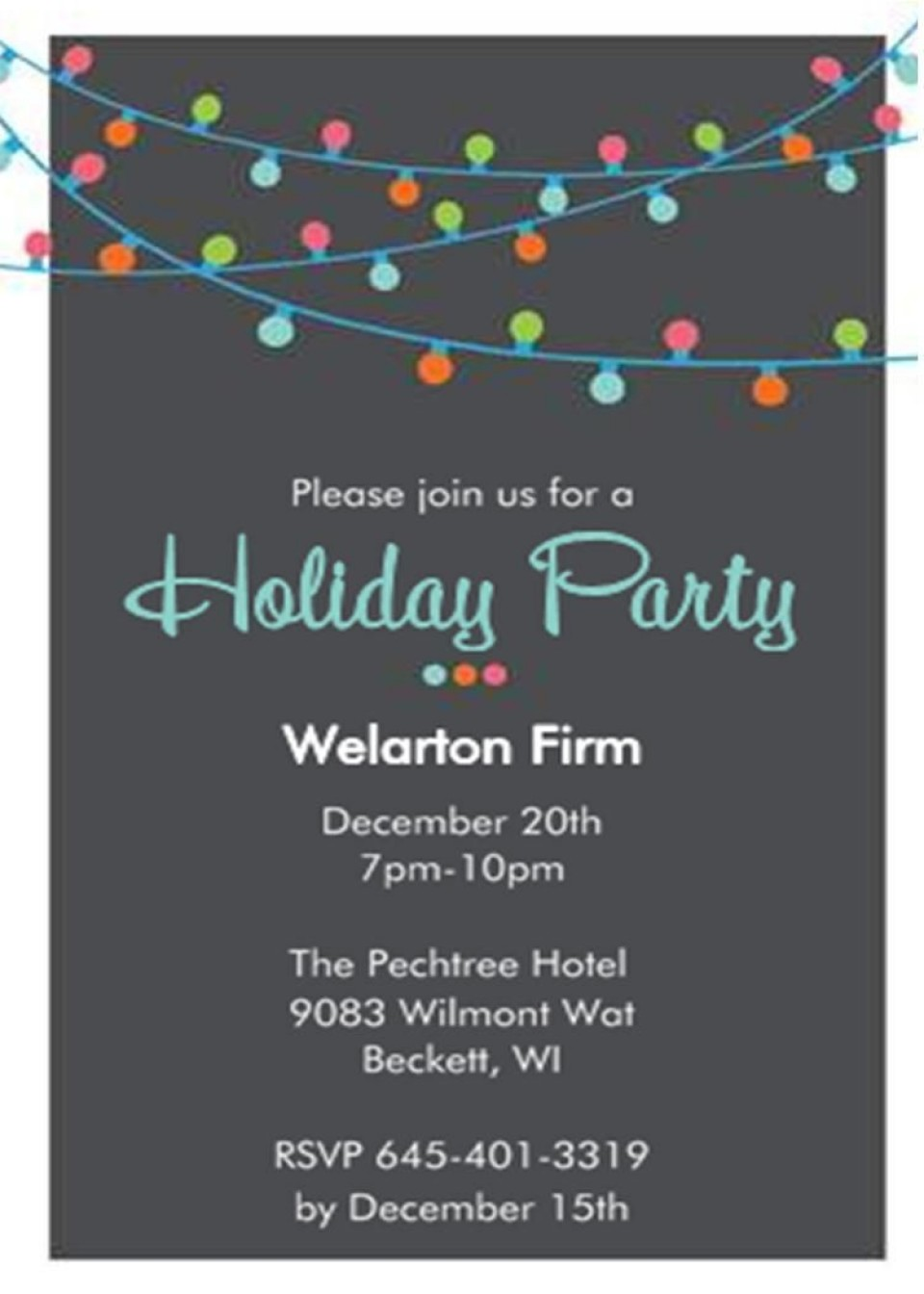 001 Incredible Office Christma Party Invitation Wording Sample Image  Holiday Example960