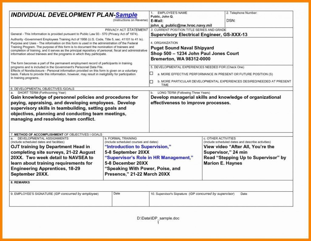 001 Incredible Personal Development Plan Template Doc High Def  Doctor Word DocumentLarge
