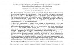 001 Incredible Private Placement Memorandum Outline Idea  Film Sample Template Canada Word